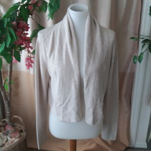 Peruvian Connection Size L Beige cardigan